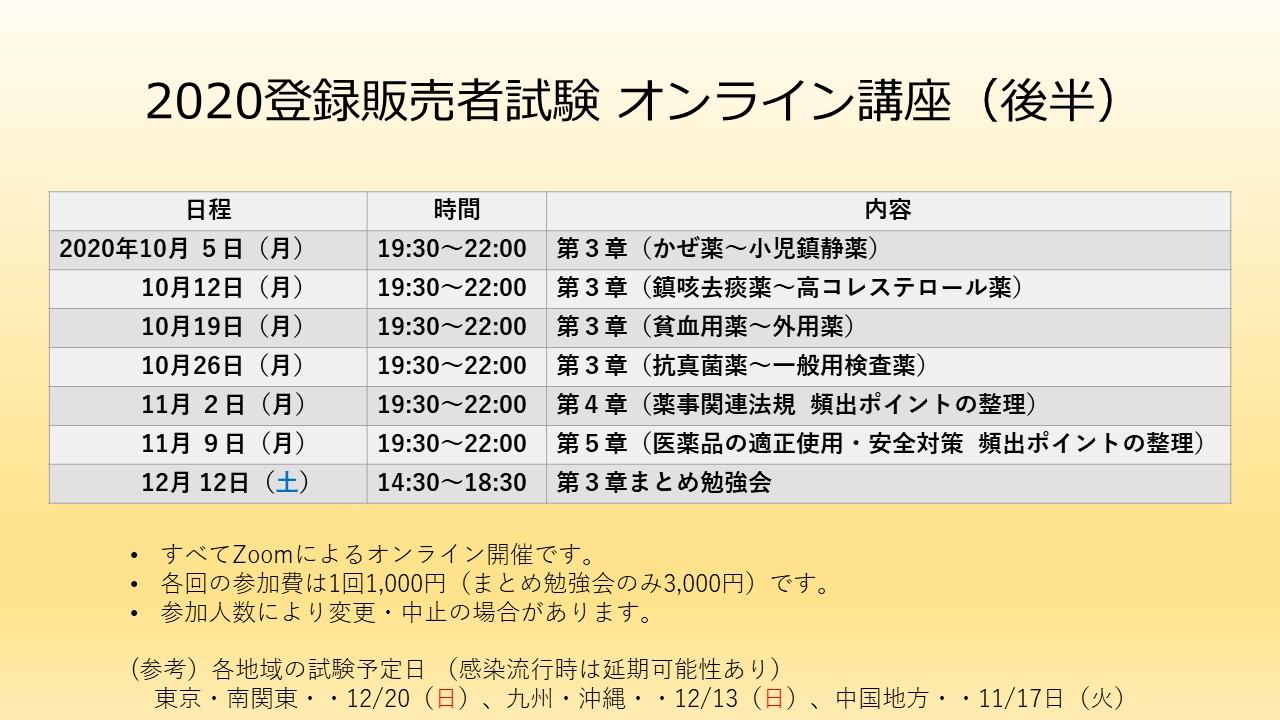 2020 東京 試験 登録 者 販売